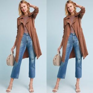 Anthropologie x Moth Carrie Belted Trench Coat